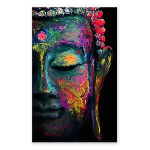Affiche murale colorée – Peinture Bouddha Art