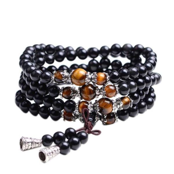 Bracelet-Mala-en-pierre-obsidienne-et-œil-de-Tigre