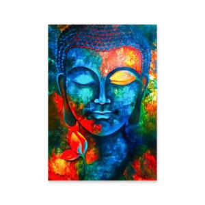 Affiche murale colorée Bouddha art