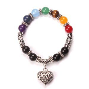Bracelet de guérison des 7 Chakras «Amour»