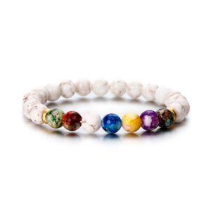 Bracelet de guérison des 7 chakras «Sagesse»