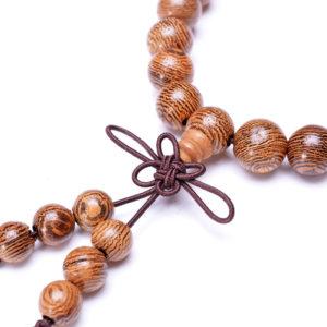 Bracelet Mala en bois naturel – Artisanal