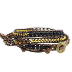 Bracelet Wrap «Confiance du tigre»